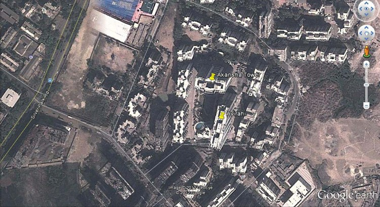 Akanksha Towers Google Earth