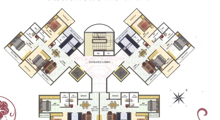 Meena Residency Floor Plan