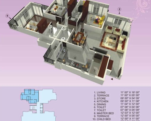 Empire Estate Floor Plan 1