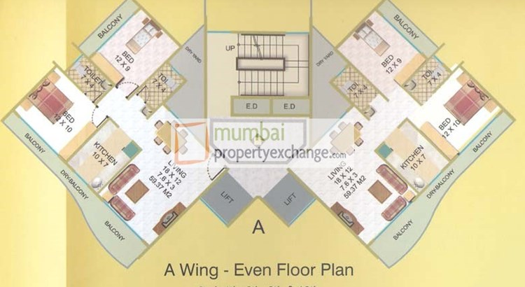 Elite Heights Even Floor Plan