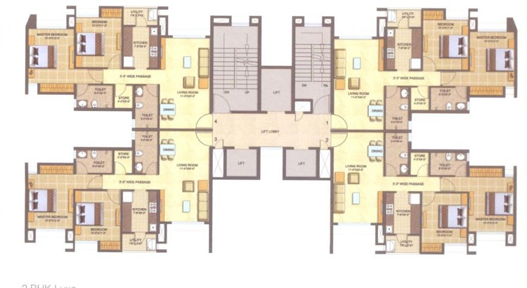 Lodha Splendora Phase  I Floor Plan