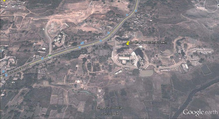 Lodha Splendora Phase  I Google Earth