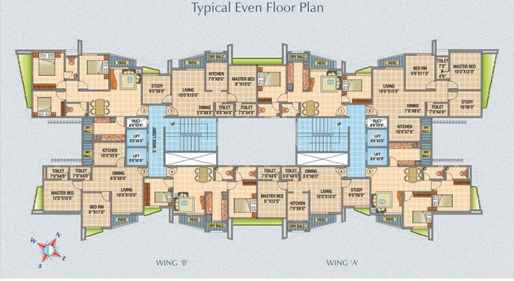 Raj Horizon Floor Plan 1