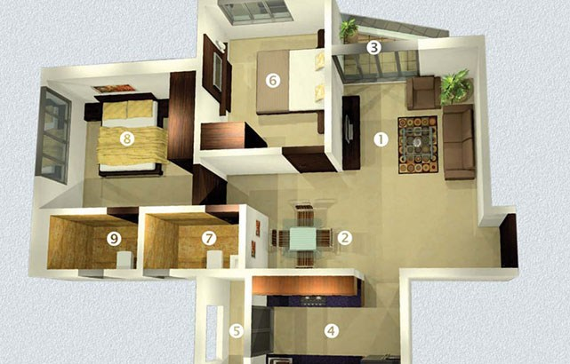 Raj Horizon Floor Plan 2