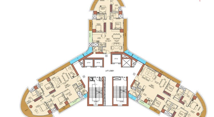 Aquaria Grand A Wing Floor Plan