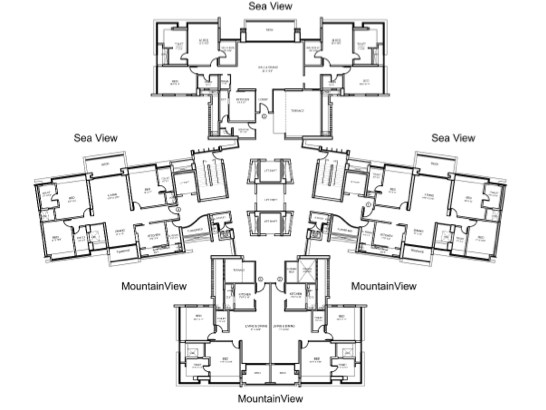 Palm Beach Residency Floor plan