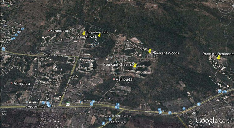 Kalpataru Hills Google Earth