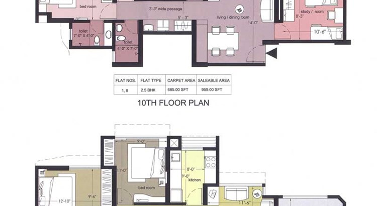 Everest Countryside Iris 10th and 11th Floor Plan