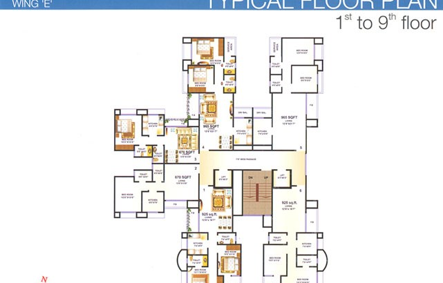 Premier Residency Floor Plan 4
