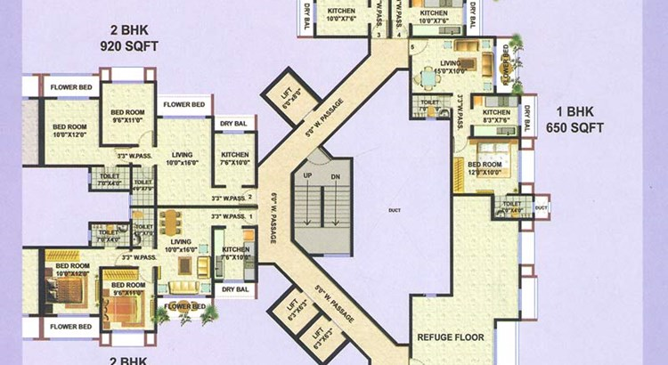 Galaxy Apartment D WIng 15 Floor Plan