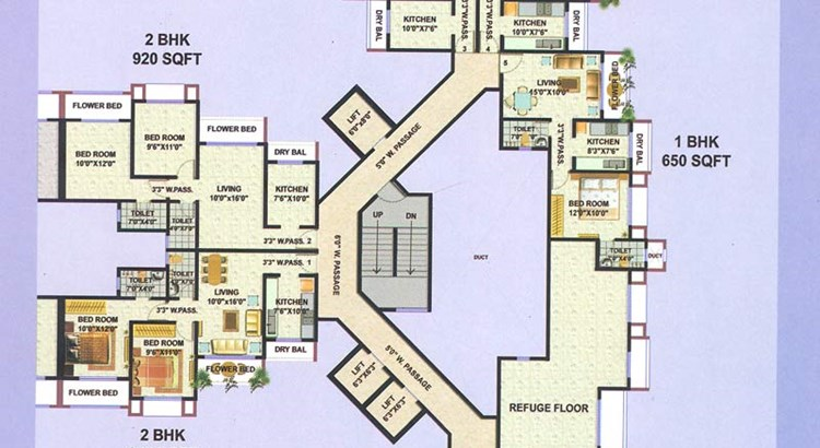 Galaxy Apartment D WIng 8th Floor Plan