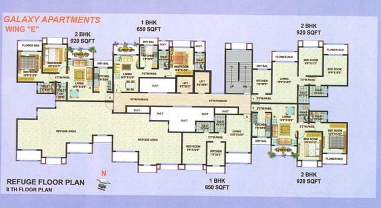 Galaxy Apartment E Wing 8th Floor Plan