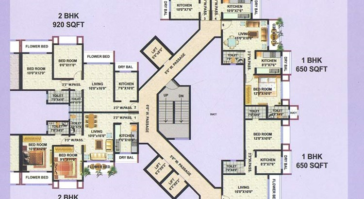 Galaxy Apartment Typical Floor Plan