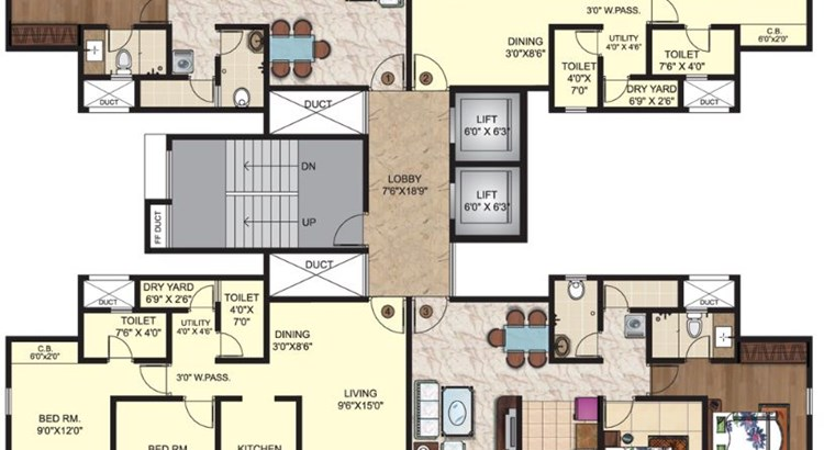 Puranik Capitol Floor Plans