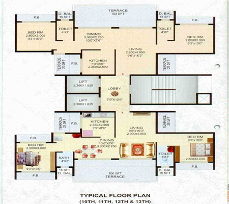 Royal Galaxy Floor Plan I