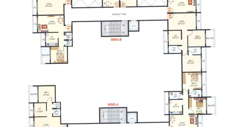 Suraj Residency Floor Plan I
