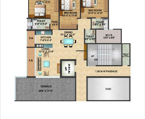 Constellation 3 BHK Plan