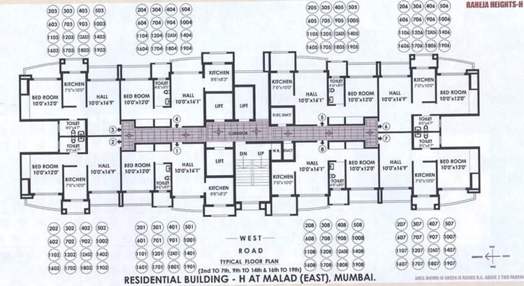 Raheja Heights Wing A Floor Plan I