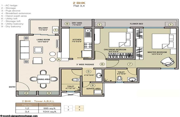 Indiabulls Greens I Floor Plan 3