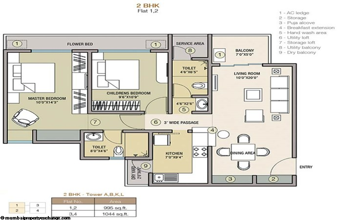 Indiabulls Greens I Floor Plan 4