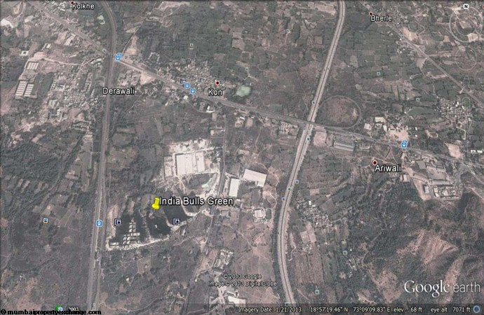Indiabulls Greens I Google Earth