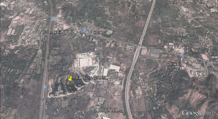 Indiabulls Greens 1 Google Earth