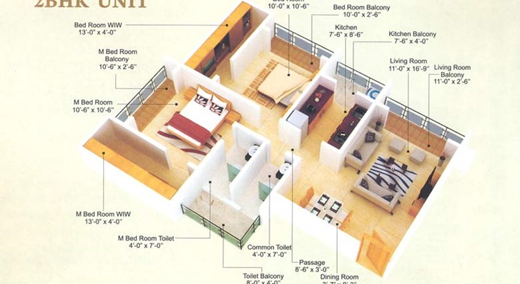 Mangal May Floor Plan I