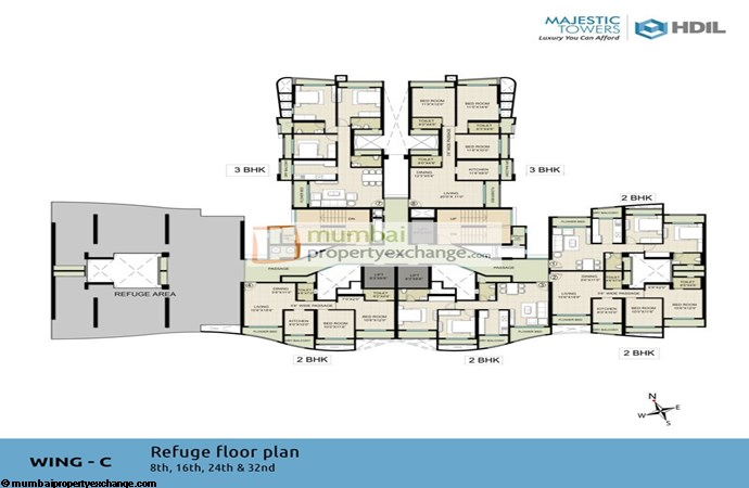 Majestic Tower Wing C Refugee Floor Plan
