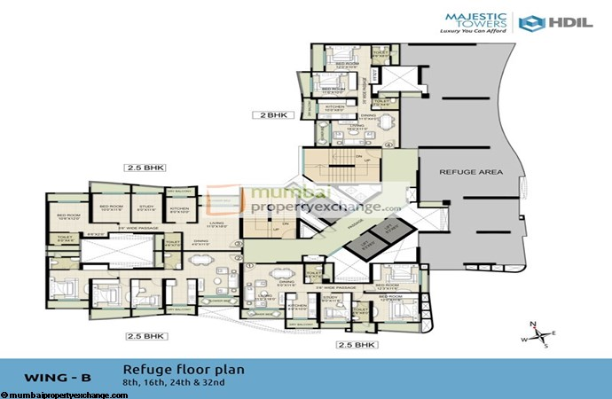 Majestic Tower Wing B Refuge Floor plan