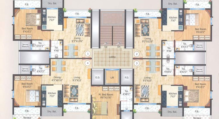 Manas Residency Floor Plan II
