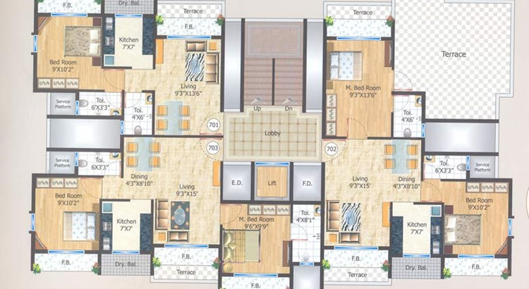 Manas Residency Floor Plan III