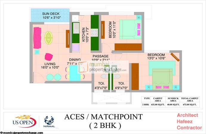 US Open Apartment Match Point Floor Plan