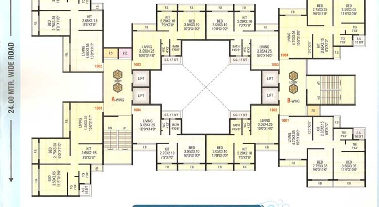 Sai Prasad Residency Floor Plan 1