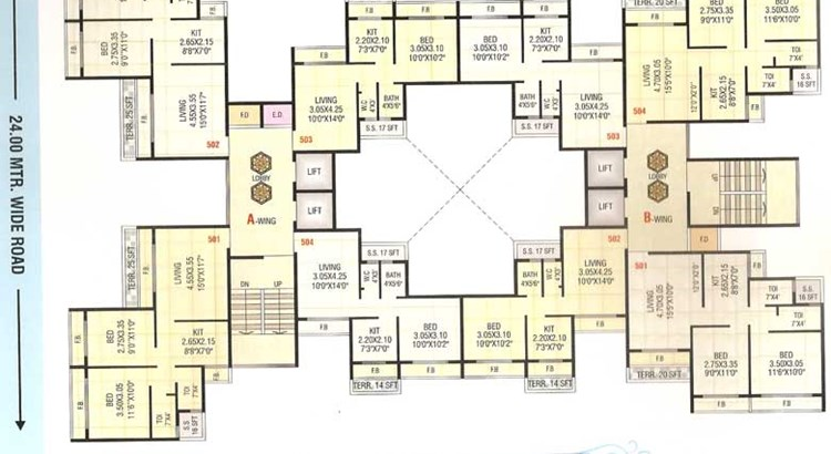 Sai Prasad Residency Floor Plan 2
