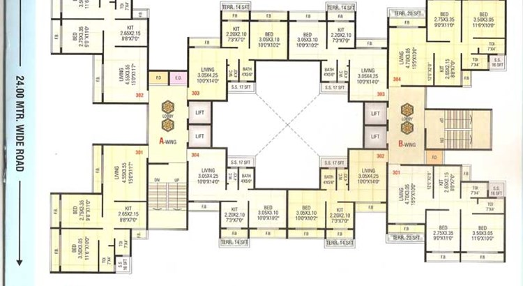 Sai Prasad Residency Floor Plan 4