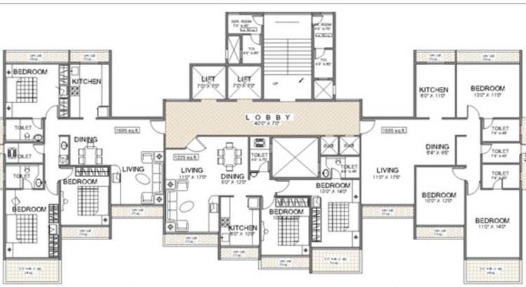Balaji Heights Floor Plan I