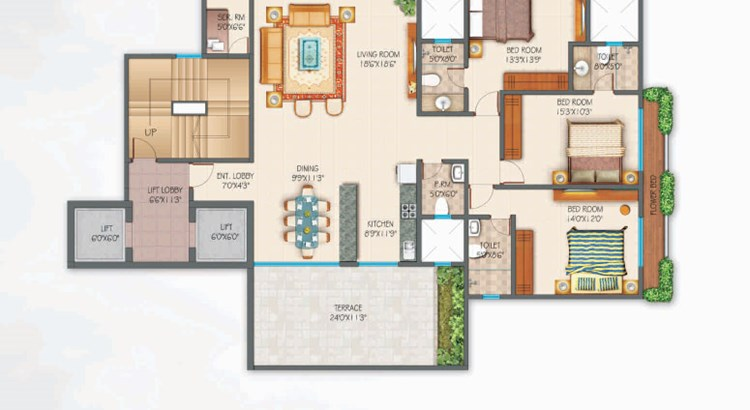 Zephyr 3 bhk apartment