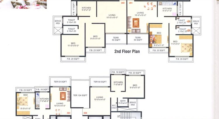 Meghna Heights 2nd and 3rd Floor Plan