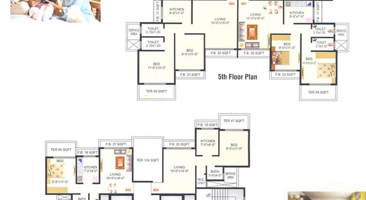 Meghna Heights 5th and 6th Floor Plan