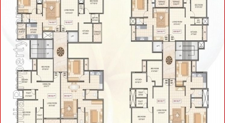 Anchit Homes and Shamlee Towers Floor Plan 1