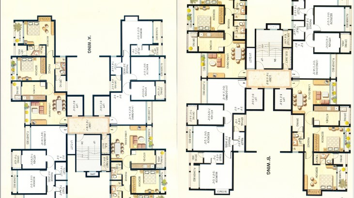 Siddhivinayak Towers Floor Plan