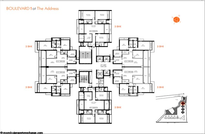 The Address Floor layout Boulevard 1