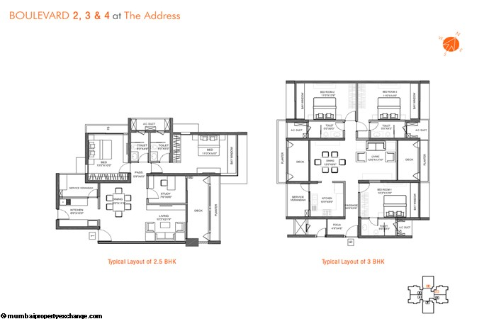 The Address Layout for 2.5 and 3 BHK