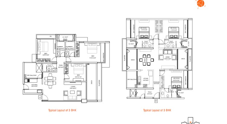 The Address Unit Plan 3 BHK