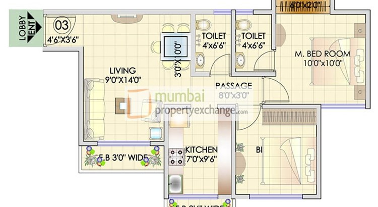 Residency Park Floor Plan 1
