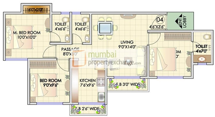 Residency Park Floor Plan 4