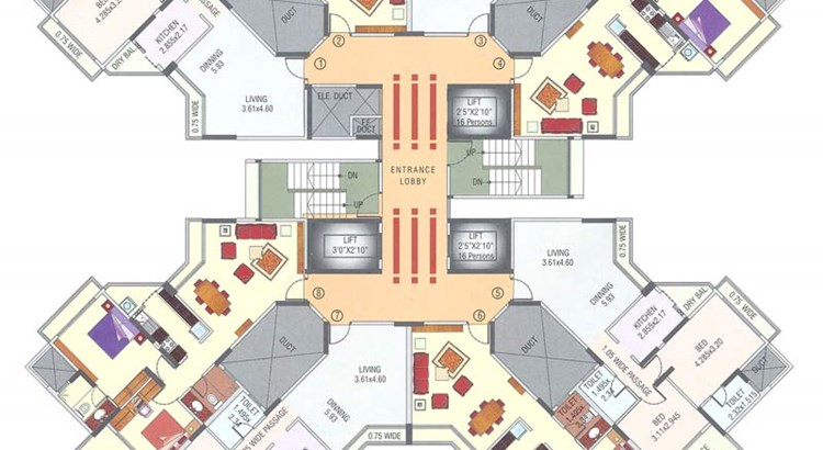 Metro Residency Floor Plan I