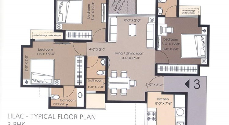 Everest World Phase V Floor Plan I