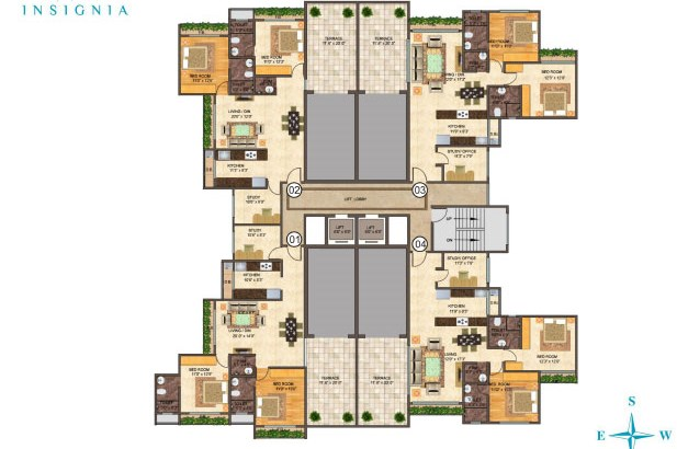 Insignia BKC Floor Plan Wing A