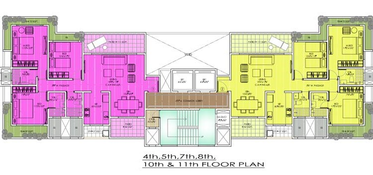 Parwana Tower 4,5,7,8 and 10 Plan